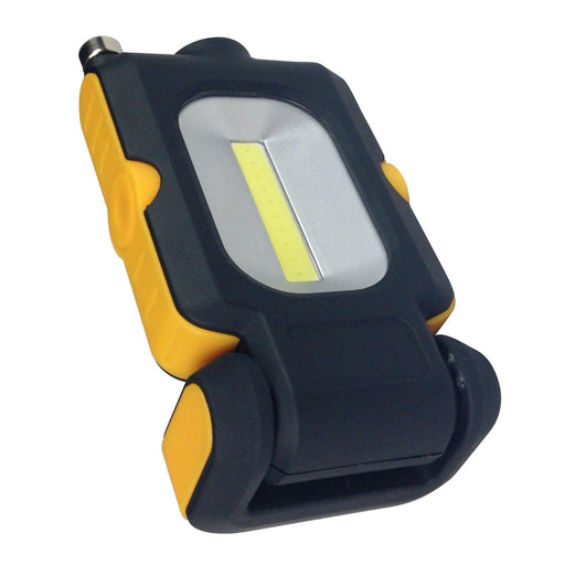 This compact Portable LED Handheld Worklight has 3 different lighting settings and a telescopic arm for picking up hard to reach magnetic items. SKU: RABHLCLEDWRK, RAB090214 UPC: 061184902146