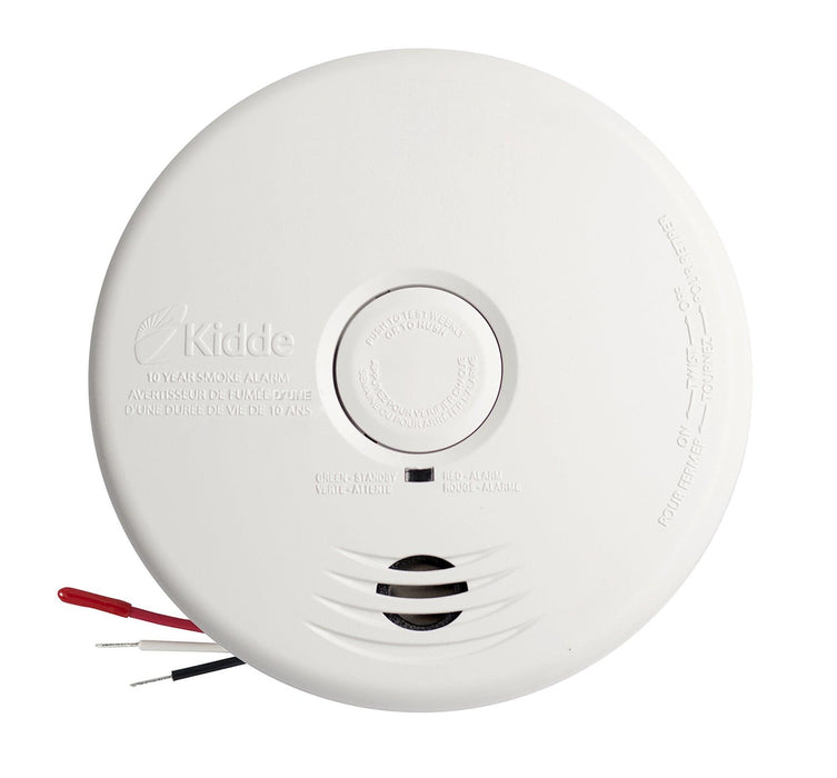 This device operates on a 120V AC or with the 3V lithium batteries included. This smoke alarm is suitable for all living areas and provides continuous protection against smoke and fire hazards during power outages. SKU: KIDI12010SCA UPC:047871116072 Model: i12010S-CA