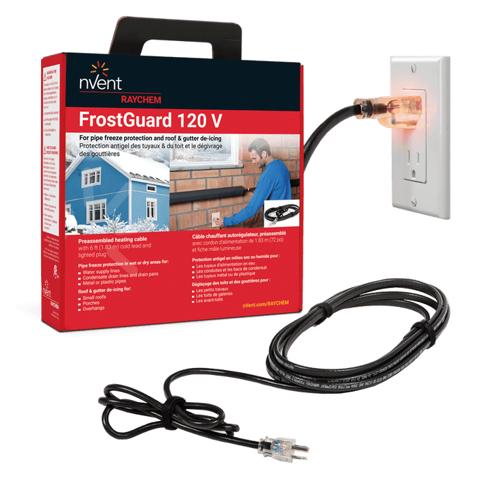 nVent Raychem Frostguard Freeze Protection Plug-In Kit 36 FT, Model FG136P