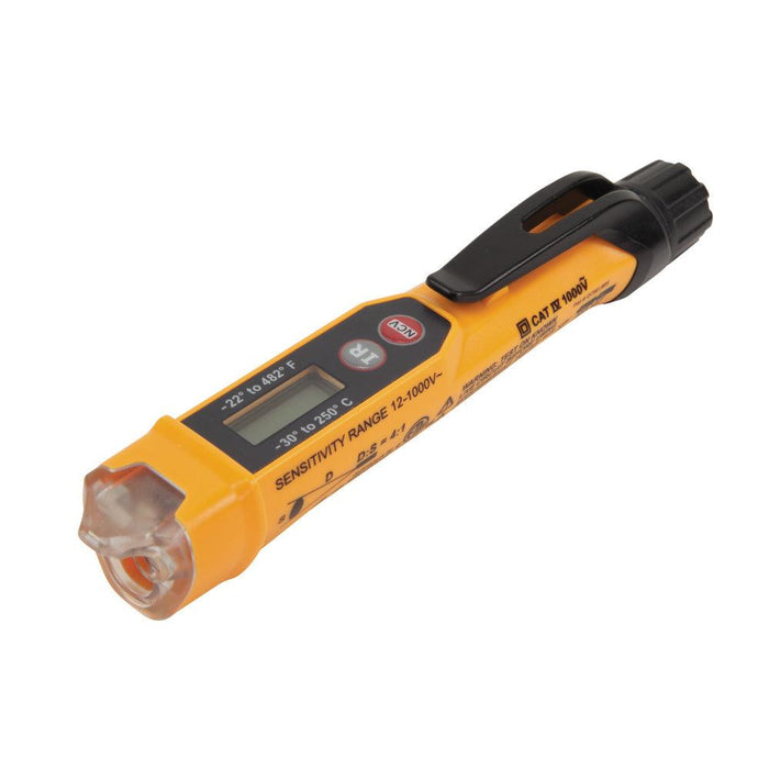Non-Contact Voltage Tester with Infrared Thermometer is designed specifically for HVAC applications. It provides non-contact determination of AC voltage in cables, cords, circuit breakers, switches, outlets, and wires; as well as infrared (IR) thermometer measurements, making it the perfect choice for HVAC professionals. SKU:  KLENCVT4IR UPC: 092644690617