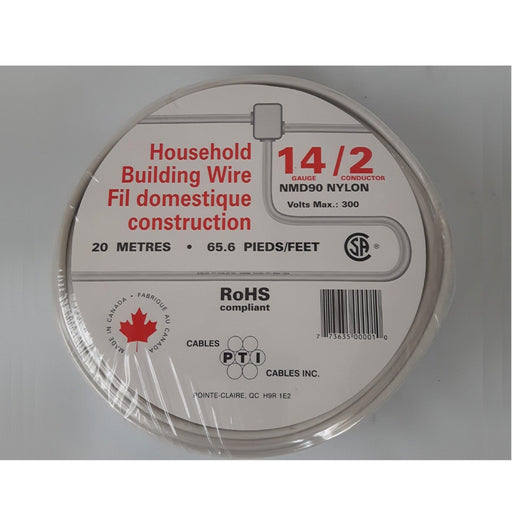 Household Building Wire, NMD90, 14/2 20m