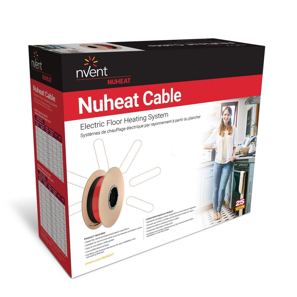 nVent Nuheat Cable is an easy-to-install electric floor heating system that combines installation versatility with advanced new technology. Model: N1C025, N1C040, N1C050, N1C060, N1C070, N1C080, N1C085, N1C095