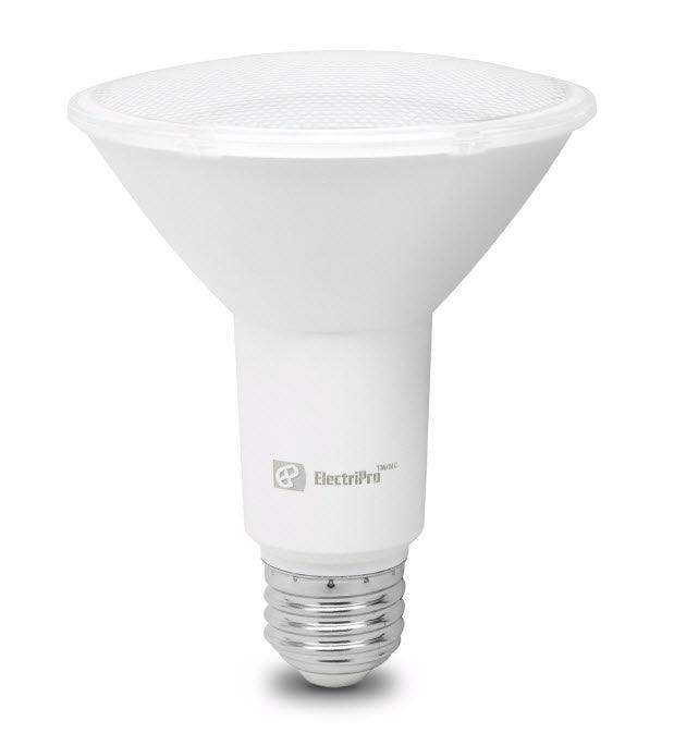 This Energy Star qualified lamp is dimmable and produces Bright White Light (4000K). Electripro LED 13W lamp replaces a standard 75W PAR30 lamp. SKU: EPO13PAR30LLED840DIM UPC: 067805475181