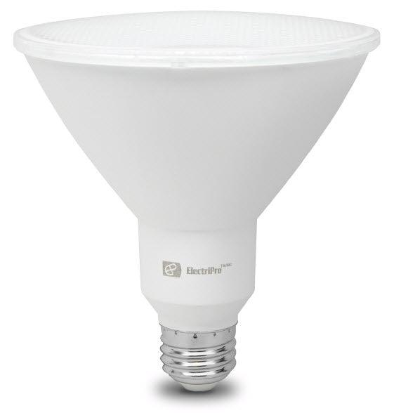 This Energy Star qualified lamp is dimmable and produces a Bright White Light (4000K). Rated for 25,000 hours of operation it carries a limited 3 year warranty depending on operating hours. An Electripro LED 19W lamp replaces a standard 90W PAR38 lamp. SKU: EPO19PAR38LED840DIM UPC: 067805475198