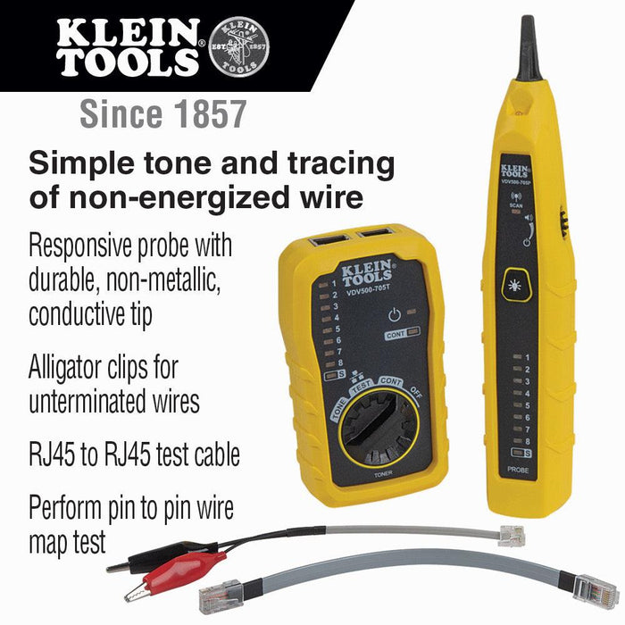Klein Tools Tone & Probe Test and Trace Kit, Model VDV500705