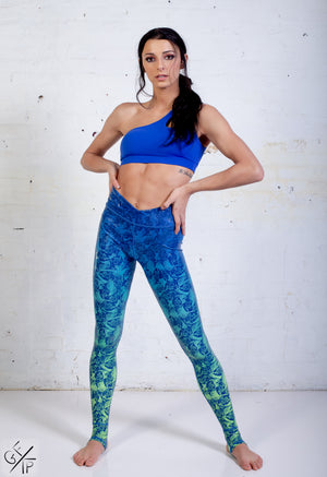 Peacock Ombré Goddess Grip Leggings