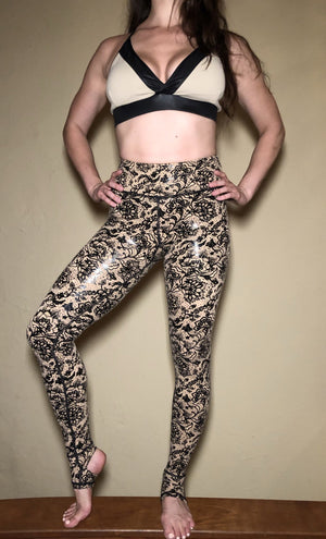 BLAIR (Black Lacy Adaptable Impressive Resilient) Goddess Grip Leggings