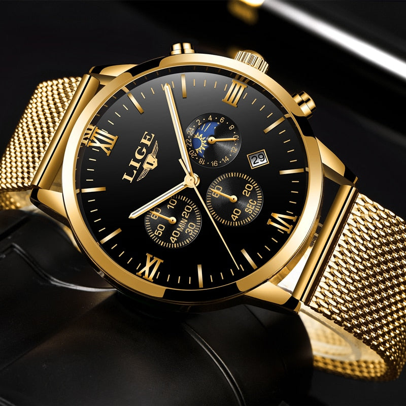 LIGE Men's Luxury Watch