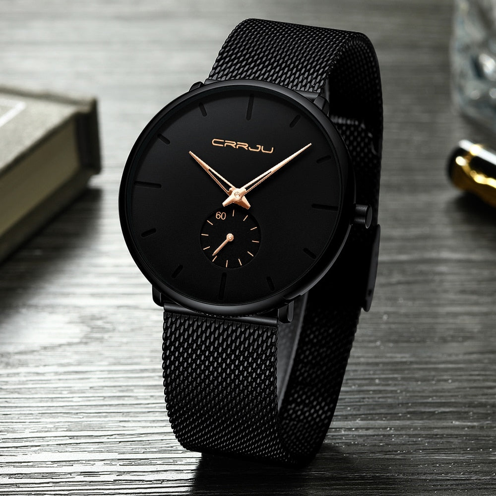 Men's Ultra Thin Dial Quartz Watch