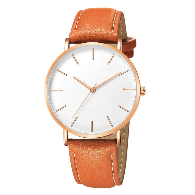 Men's Alloy Case Synthetic Leather Analog Quartz Sport Watch