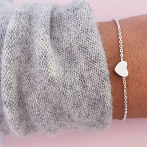Gold/Silver Heart Adjustable Heart Bracelet