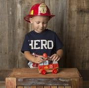 Fire Truck wooden building blocks