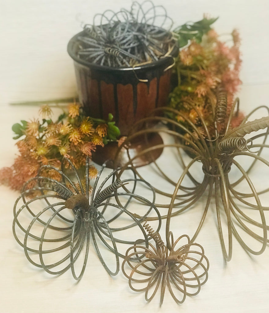 Reclaimed Wire Spring Pumkins