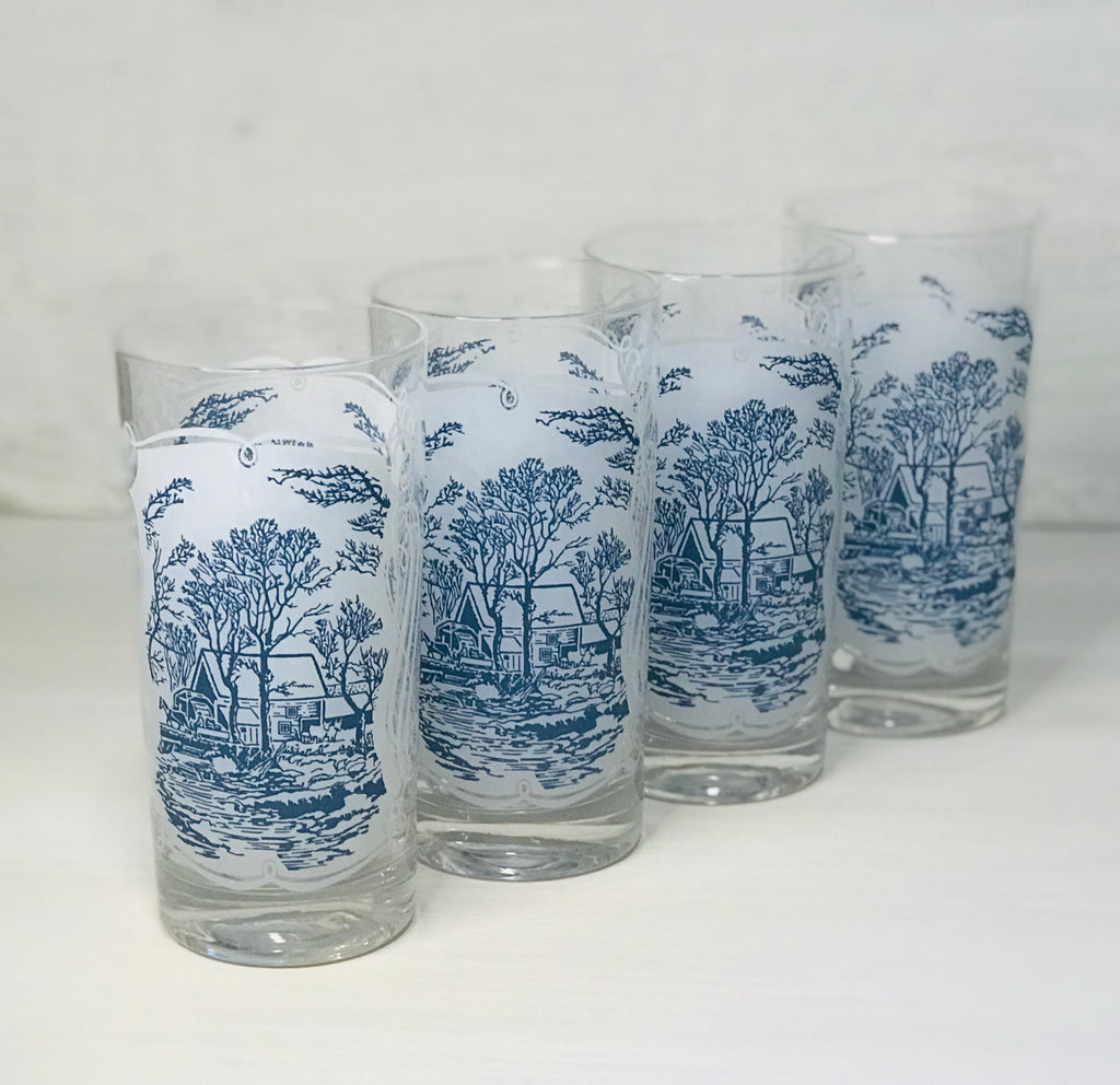 Blue Willow Style Tumbler