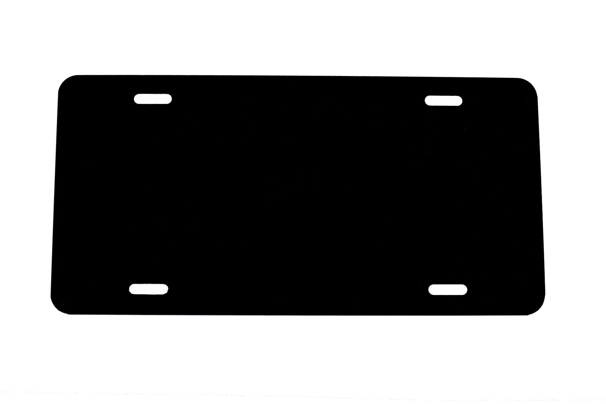 .020 Black Laser Cut and Made in USA Plastic License Plate Vinyl Blank