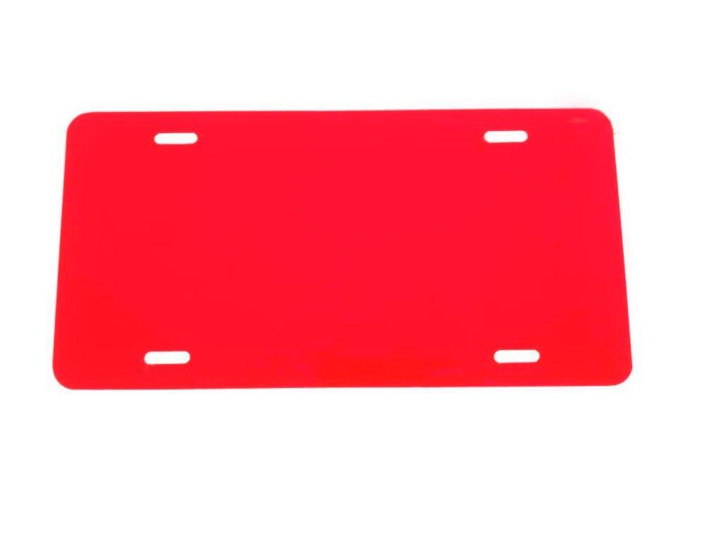 .020 RED Laser Cut and Made in USA Plastic License Plate Vinyl Blank