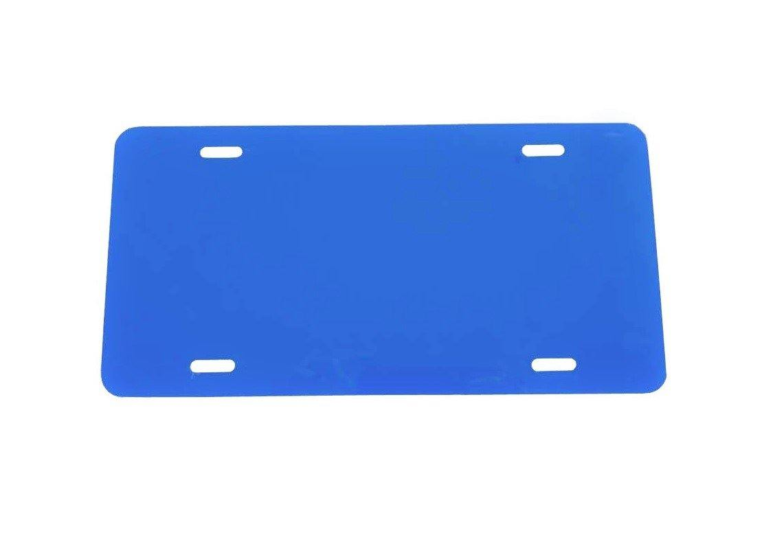 Plastic License Plate Vinyl Blank Dark Blue Laser Cut and Made in USA .020