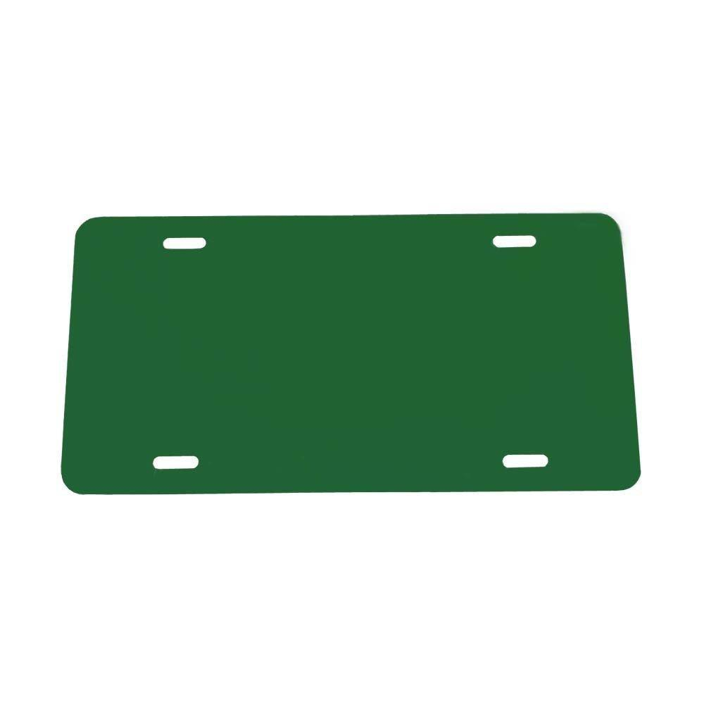 .020 Laser Cut and Made in USA Green Plastic License Plate Vinyl Blank