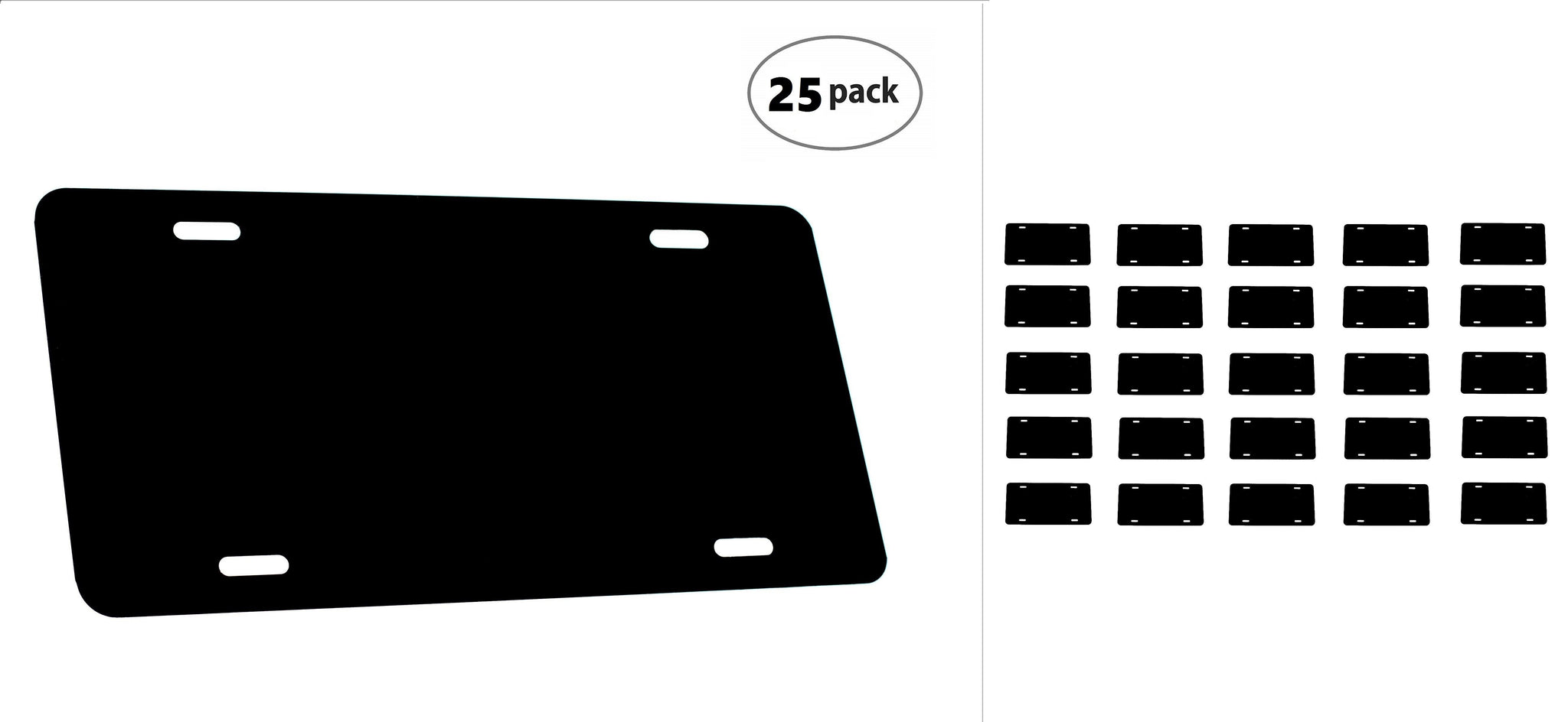 Black, 5 Pack DMSE Wholesale Blank Metal Aluminium Automotive License Plate Plates Tag for Custom Design Work 0.025 Thickness//0.5mm US//Canada Size 12x6 Made in USA