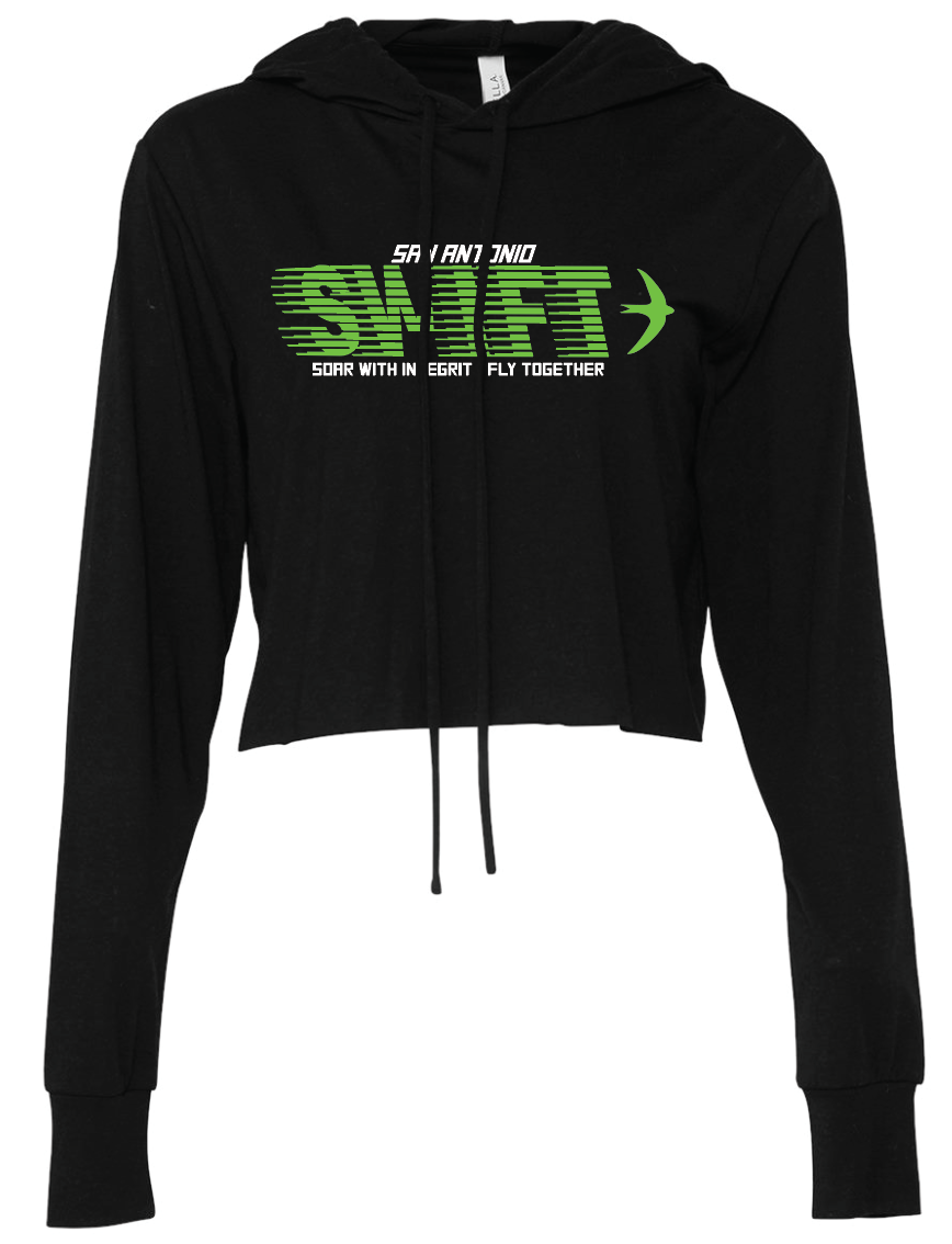 Swift Women's Triblend Cropped Long Sleeve Hoodie