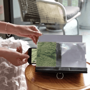 3D Phone Magnifying Stand 3D Phone Screen Amplification Magnifier Wood Bracket trendpicky