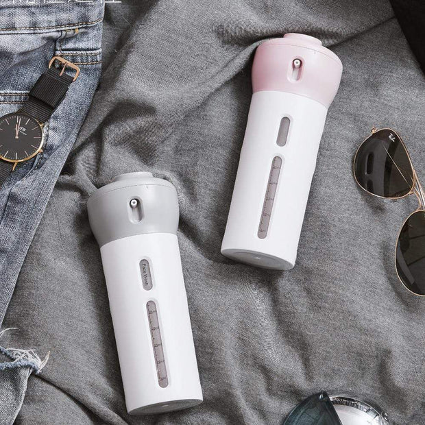 4-In-1 Travel Bottle Light Grey 4-In-1 Travel Bottle trendpicky