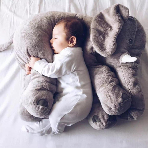 Adorable Elephant Plush Toy Pillow Gray trendpicky