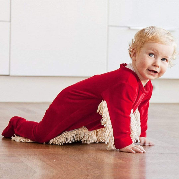 Adorably Funny Baby Romper Mop Kid's Clothing trendpicky