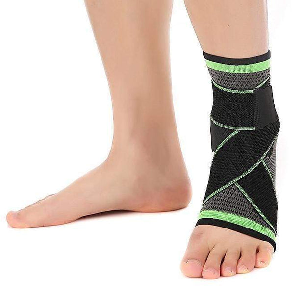 Ankle Brace Compression Support Sock L / Green Ankle Brace Compression Support Brace trendpicky