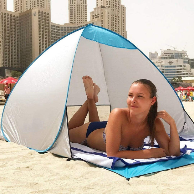 Automatic Easy Pop-Up UV Tent Silver trendpicky