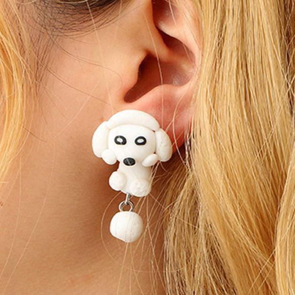 Baby Animals Earrings Poodle Baby Animals Earrings trendpicky