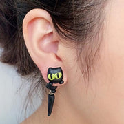 Baby Animals Earrings Salem Cat Baby Animals Earrings trendpicky