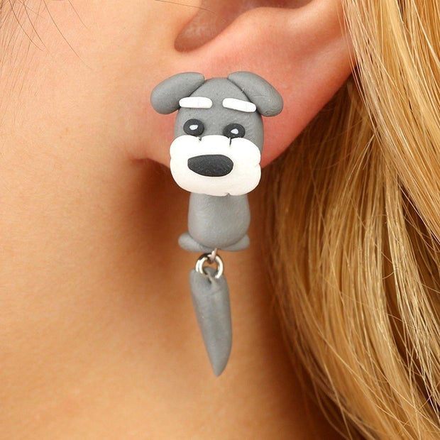 Baby Animals Earrings Schnauzer Baby Animals Earrings trendpicky