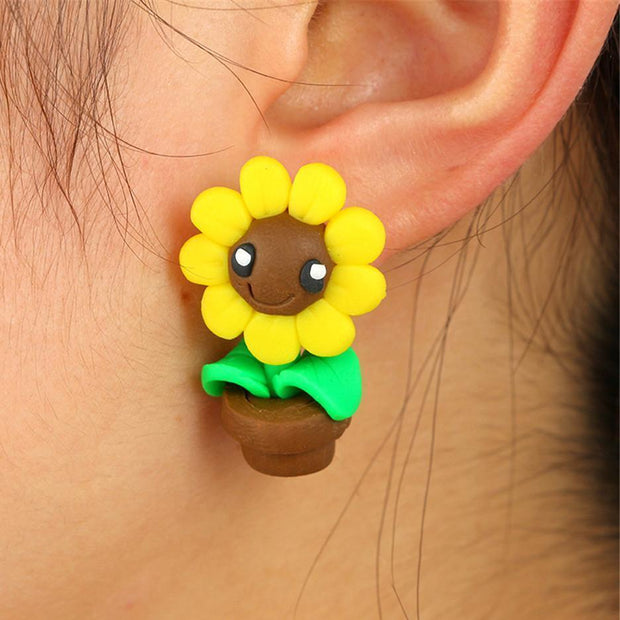 Baby Animals Earrings Sunflower Baby Animals Earrings trendpicky