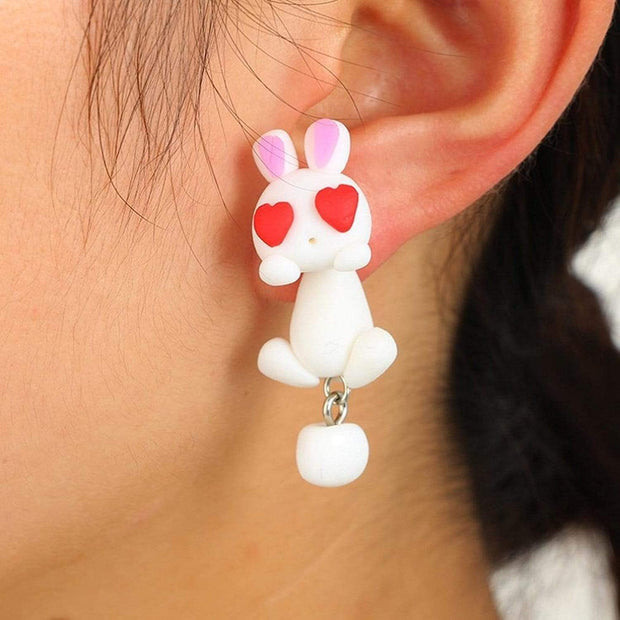 Baby Animals Earrings Sweet Bunny Baby Animals Earrings trendpicky
