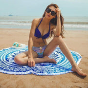 Beach Blanket & Cover Up One Size / Blue Mandala Beach Blanket trendpicky