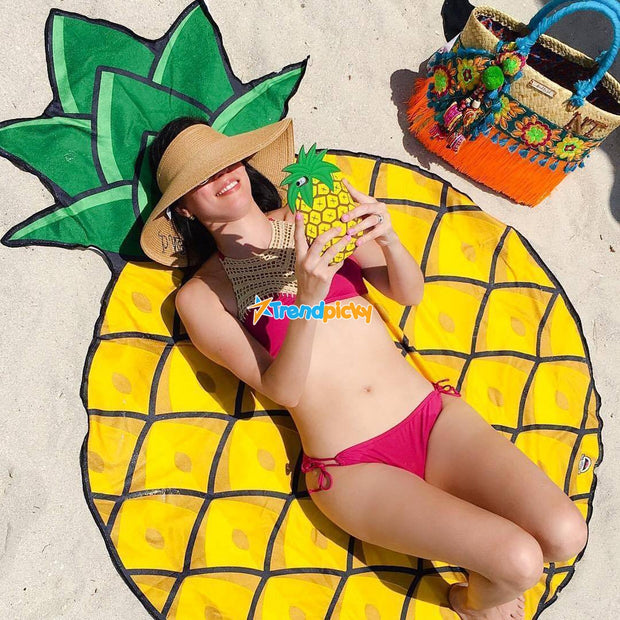 Beach Blanket & Cover Up One Size / Pineapple Beach Blanket trendpicky