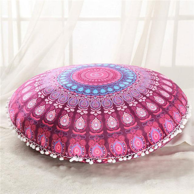 Boho Floor Pillow Cover Pink Cushions trendpicky