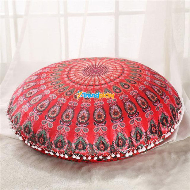 Boho Floor Pillow Cover Red Cushions trendpicky