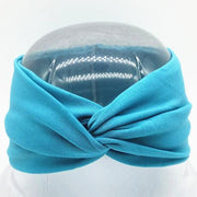 Boho Twist Headbands Blue Peacock Boho Twist Headband trendpicky