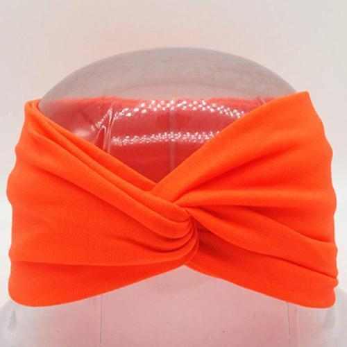 Boho Twist Headbands Neon Orange Boho Twist Headband trendpicky