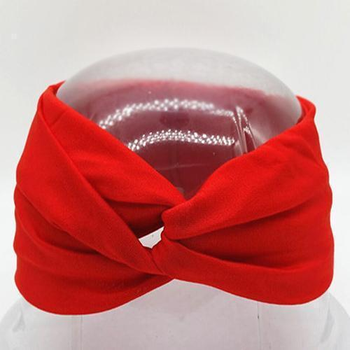 Boho Twist Headbands Red Boho Twist Headband trendpicky