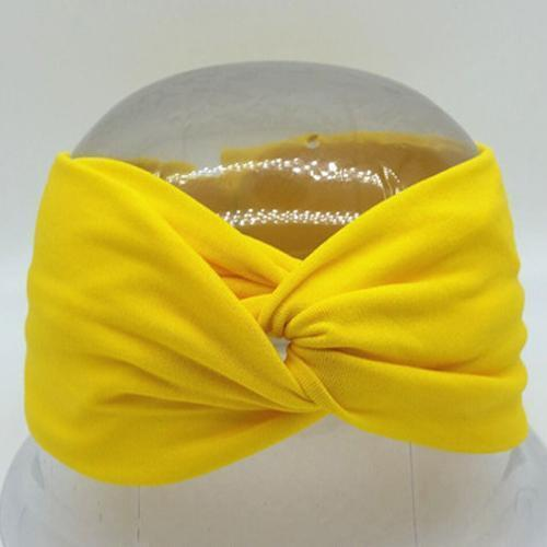 Boho Twist Headbands Yellow Boho Twist Headband trendpicky