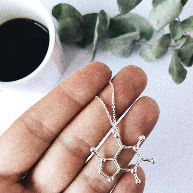 Caffeine Molecule Necklace Caffeine Molecule Necklace trendpicky