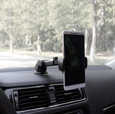 Car Phone Retractable Mount Holder Black Car Phone Retractable Mount Holder trendpicky