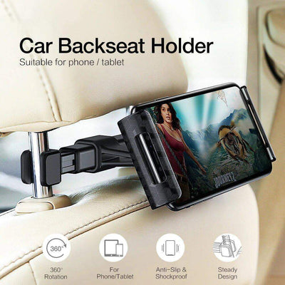 Car Rear Seat Phone Bracket Black trendpicky