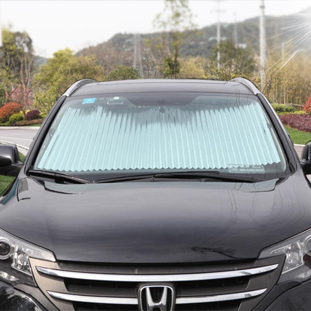 Car Retractable Windshield Cover Black Car Retractable Windshield Cover trendpicky