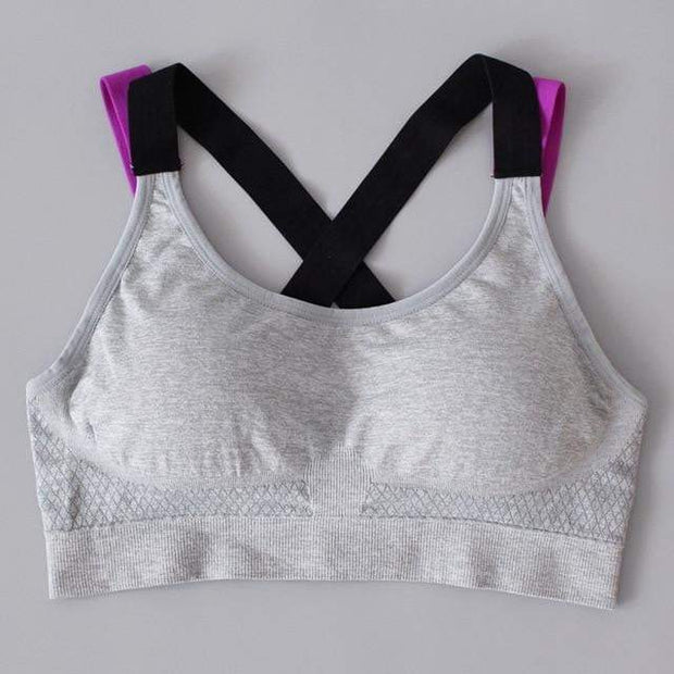 Comfortable Breathable Sports Bra Grey / XL Sports Bra trendpicky