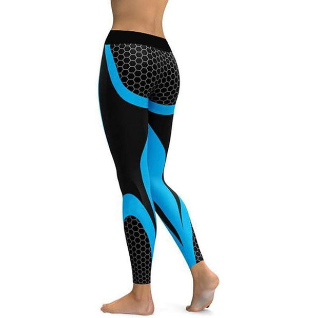 Comfortable Mesh Print Leggings Leggings trendpicky