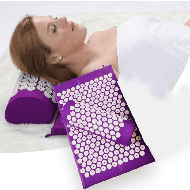 ComfortPro™  Memory Foam Acupressure Mat with Pillow and Travel Bag Bonus Home trendpicky